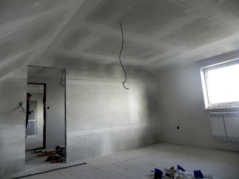 Zateplené podkrovie, zakryté sadrokartónom